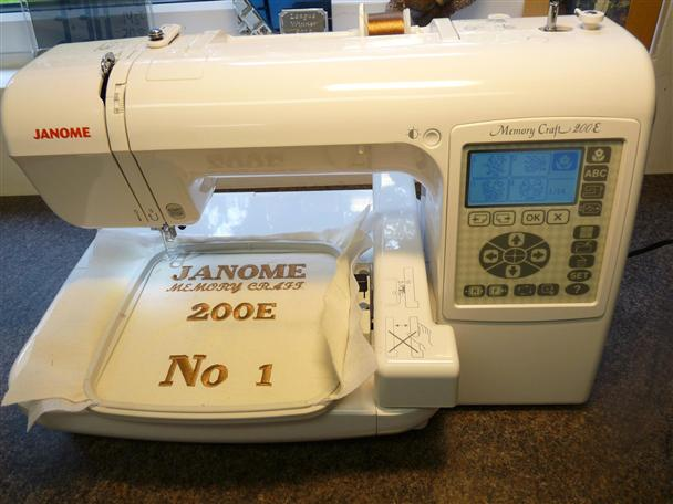 Janome memory craft 200e new used sewing machines from for Janome memory craft 200e